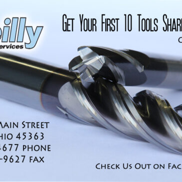 Get Your First 10 Tools Sharpened for Free – Ask Us How!!!